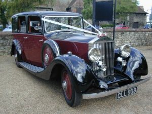 1935 Rolls Royce 6-Passenger Limousine Wedding Car Hire in Kent and Sussex.